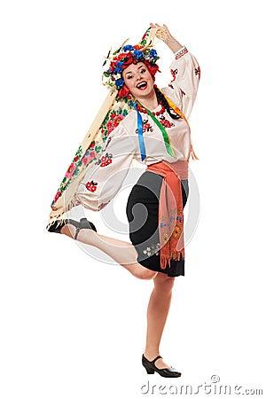 Joyful attractive woman