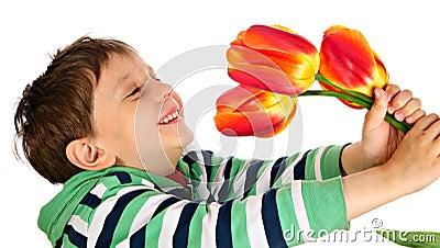 The joyful boy