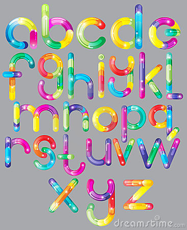 Joyful Cartoon font - letter from A to Z