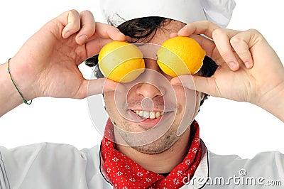 Joyful chef