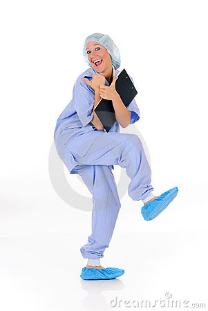 Joyful female nurse