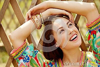 Joyful flicka