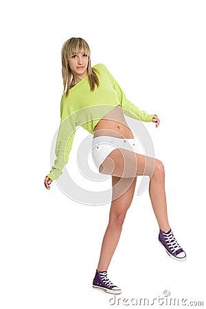 Joyful girl blonde