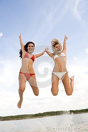 Joyful girls