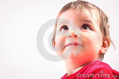 Joyful happy child