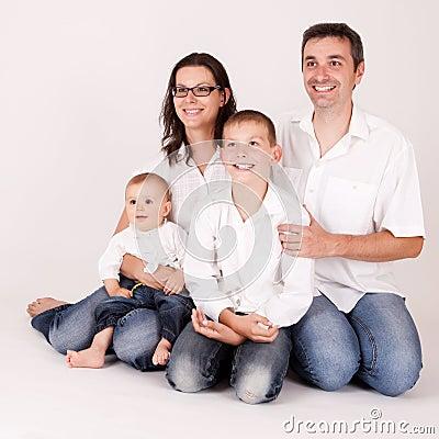 Joyful, happy family