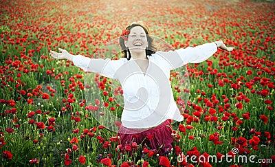 Joyful kvinna