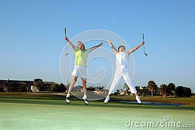 Joyful lady Golfers