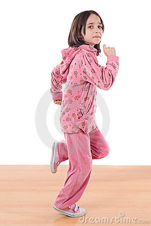 Free Joyful Little Girl Running Royalty Free Stock Photos - 7678458