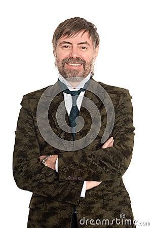 Joyful middle aged man