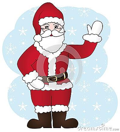 Joyful santa claus.