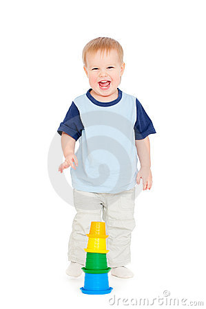 Joyful small boy