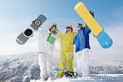 Joyful sportsmen