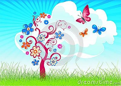 Joyful spring/summer background