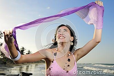 Joyful summer girl