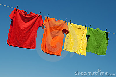 Joyful summer laundry