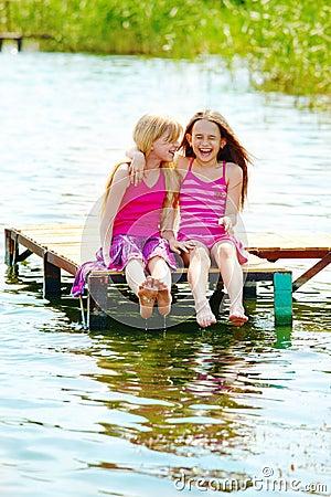 Joyful teenage girls