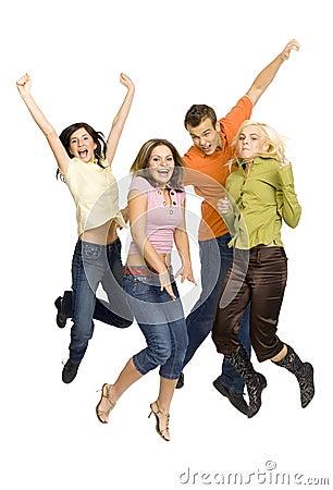 Free Joyful Teenagers Stock Image - 2157941