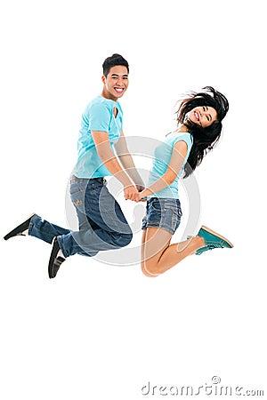 Joyful teens