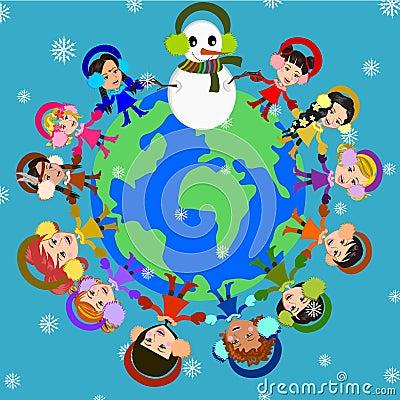 Free Joyful Winter Royalty Free Stock Photo - 49070515
