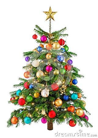 Free Joyfully Colorful Christmas Tree Stock Images - 35624184