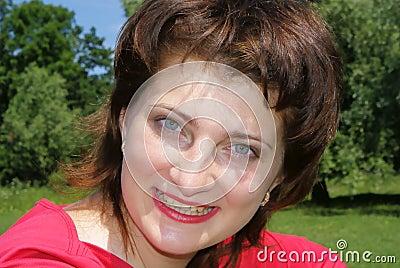 Joyous young woman