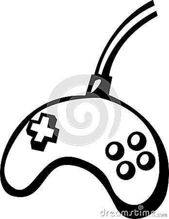 Joypad videogame controller vector illustration