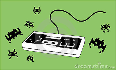 Joypad for videogame with enemies