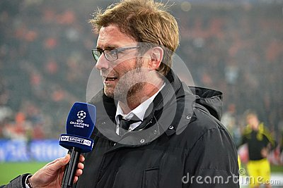 Jürgen Klopp at Donbass Arena Editorial Photography