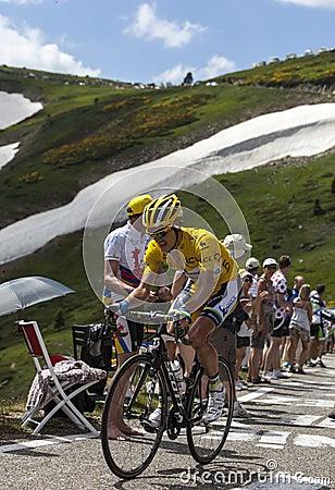 Jérsei amarelo, Daryl Impey Imagem Editorial
