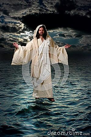 Jésus marchant sur l eau
