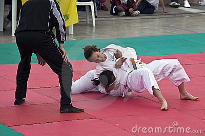 Ju jitsu demonstration at Stars in the Sport 2010 Editorial Photography