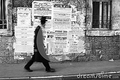Judío ortodoxo en Mea Shearim Foto de archivo editorial