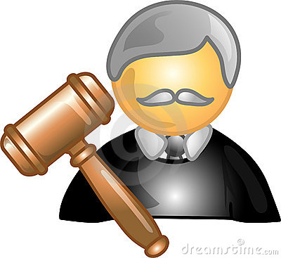 Judge career icon or symbol