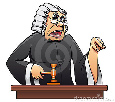 Judge with gavel