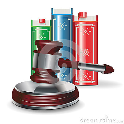 Judge gavel and book