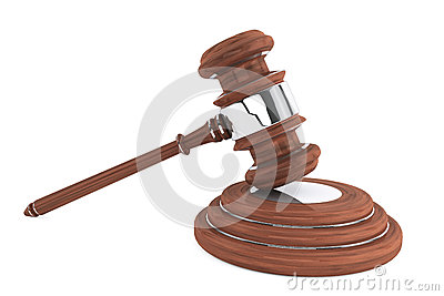 Judge gavel and sound block