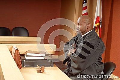Judge presiding over trial