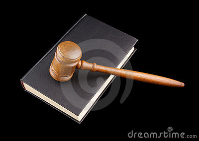 Judge s gavel legal book isolated