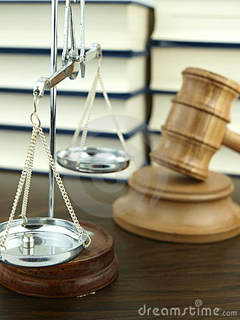 Judges Gavel and scale of justice