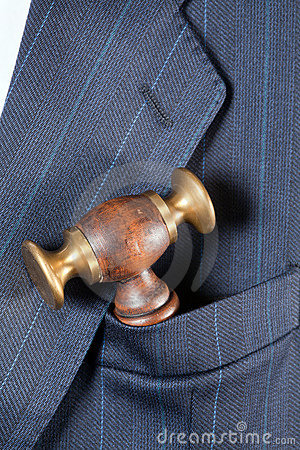 Judge s hammer in a pocket