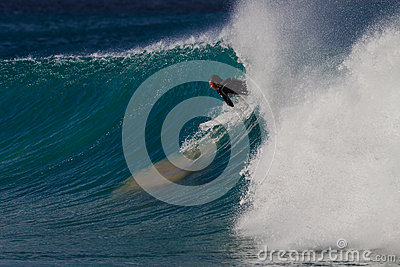 Judgement Error Surfing Editorial Stock Image