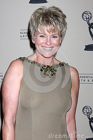 Judi Evans-Luciano arrives at the ATAS Daytime Emmy Awards Nominees Reception Editorial Stock Image