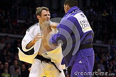 Judo Grandprix Düsseldorf 2012 Allemagne Photo stock éditorial