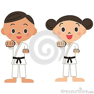 Judo, karaté, enfant