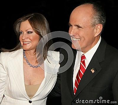 Judy Nathan Giuliani and Rudy Giuliani Editorial Photography