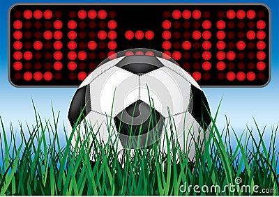 Juego de fútbol del principio.