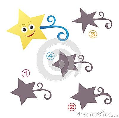 Juego de la dimensión de una variable - la estrella