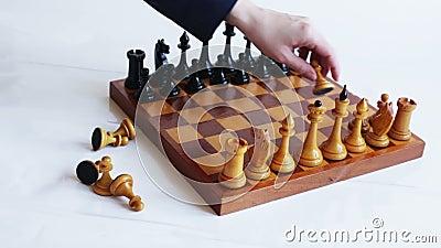 Juego del ajedrez metrajes