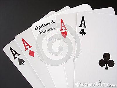 Juego en opciones y mercados a plazo
